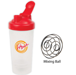 Shaker bottle with mixing ball