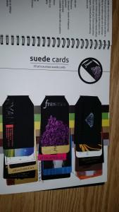 22pt Suede Cards