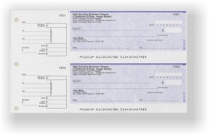 These 2 up cheques are great manual cheques to keep in a binder