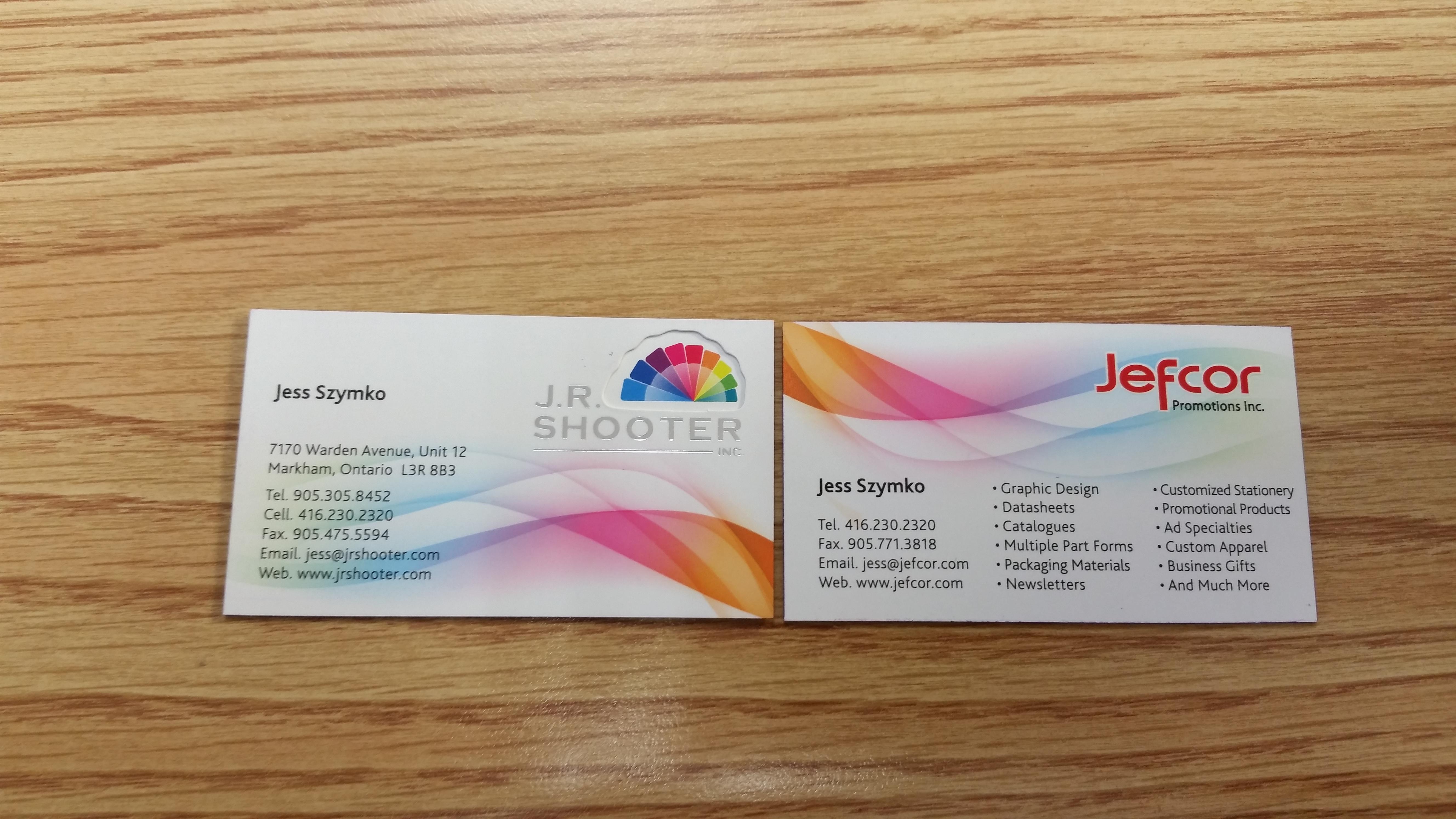 Business Cards | JR Shooter